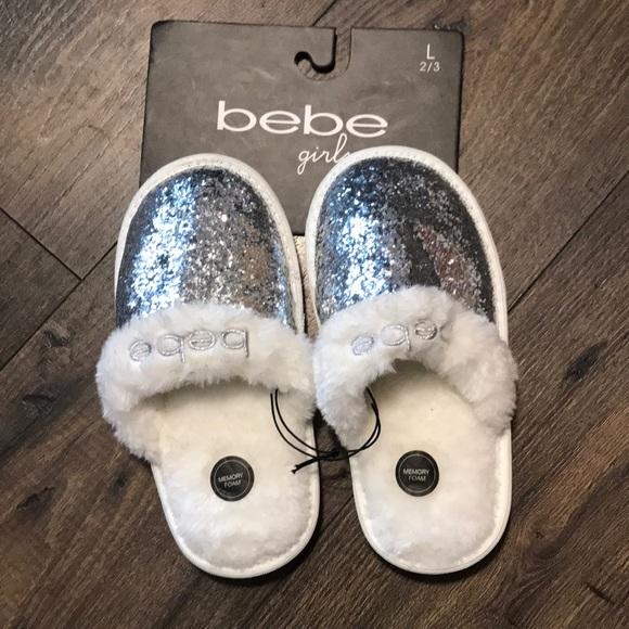 bebe Shoes | Girls Slippers | Poshmark